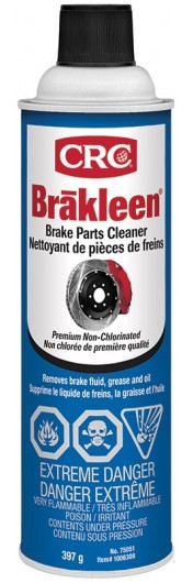Brakleen® Brake Parts Cleaner - Non Chlorinated, Retail Formula, 397 Grams