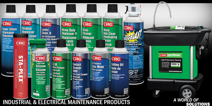Lubricants - Industrial Electrical Chemical Products | CRC Canada Co.